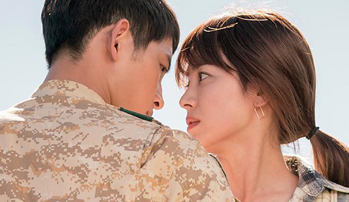Descendants Of The Sun Song Joong Ki Gets Intimately Close