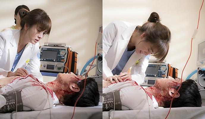 Descendants Of The Sun Song Hye Kyo Sheds Heartbreaking Tears For Injured Joong Ki